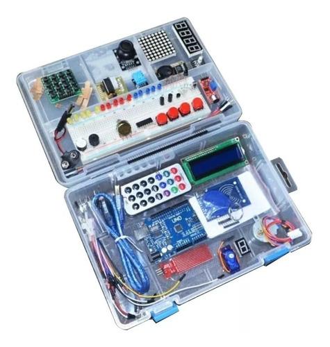Kit Arduino Starter Lcd Dht Rfid Proto Cables Sensores Caja