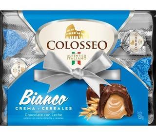 Colosseo Bianco 12 Piezas Chocolate Leche Relleno Crema