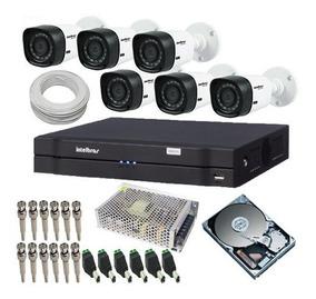 Kit 6 Câmeras Intelbras Para Vigilância Comercio/residencia