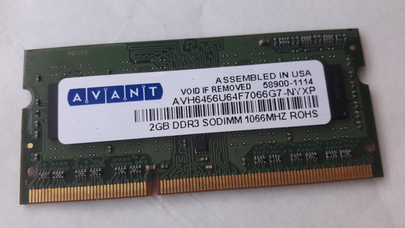 Memoria P/ Notebook Ddr3 2gb 1066 58900-1114 - Nyxp