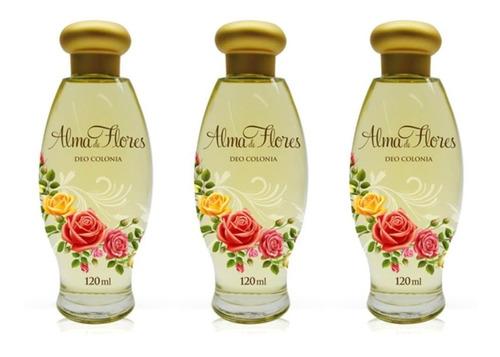 Alma De Flores Clássico Deo Colônia 120ml (kit C/03)