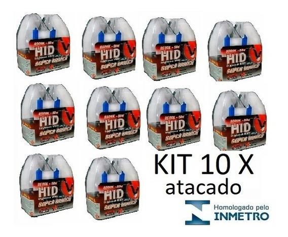 Kit Atacado Lâmpada Super Branca 8500 K H1 H7 H11 Hb4 H4 H3