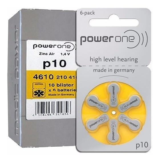 60 Baterias P10 Para Aparelho Auditivo - Power One10