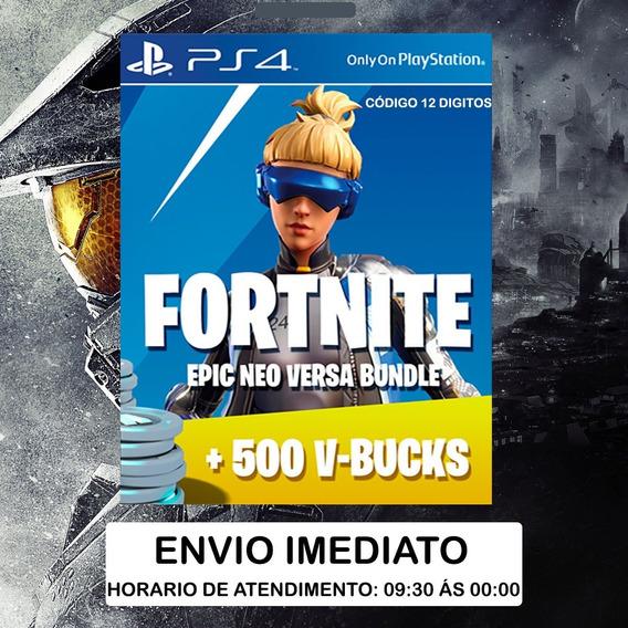 Fortnite - Epic Neo Versa Bundle + 500 V-bucks Ps4 Br/eua