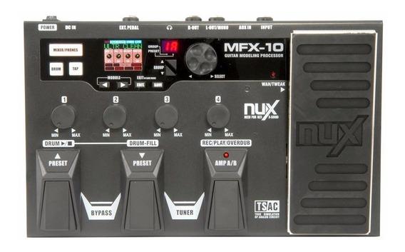 Pedaleira Nux P/ Guitarra Mfx-10 - Pd1029