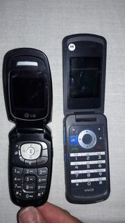 Lote Celulares Motorola E Lg - No Estado Para Peças (leia).