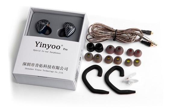 Fone Yinyoo Pro Híbrido 4drives Com Microfone Kz Zst Zsr Zs3