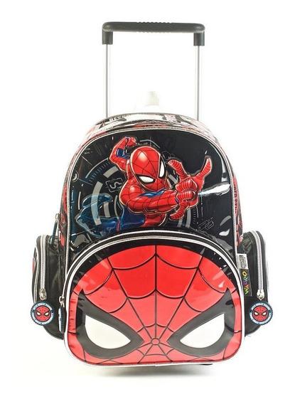 Mochila Spiderman Go Spidey C/ Carro 12 Pulgada Jardin 62311