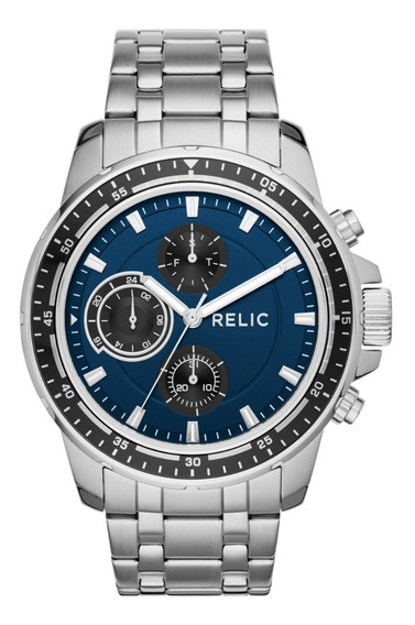 Reloj Caballero Relic Heath Zr15835 Color Plateado