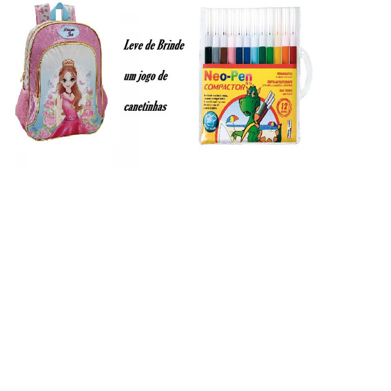 Mochila Infantil Princesa Isa + Brinde
