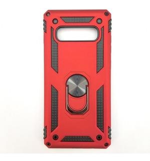 Funda Para Samsung Galaxy S10 Ring Case Roja