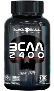Bcaa 2400 Black Skull 100 Tabs - Caveira Preta