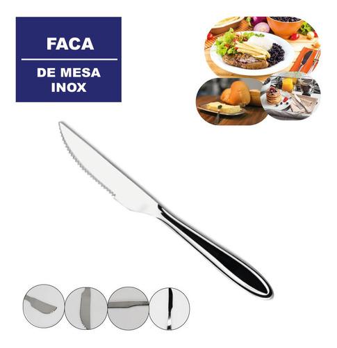 Faca Inox Mesa Restaurante Churrasco Almoço Jantar Compre Já