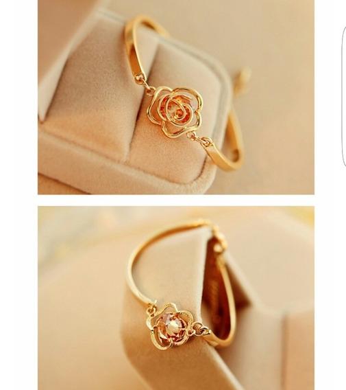Lote 10 Pulseras Oro Rosa Amor