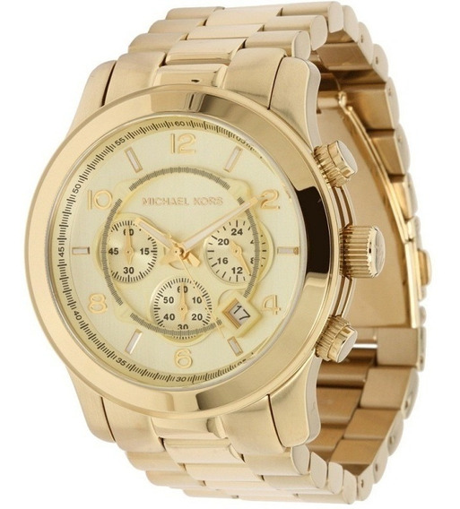 Relógio Michael Kors Mk8077 Dourado Extra Grande 12xs/juros
