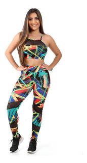 Conjunto 1 Top E 1 Calça Fitness Academia Atacado 6211/9365