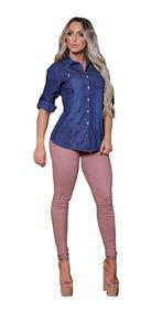 Roupas Femininas Camisa Jeans Blusa Importada Original 2508
