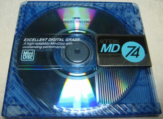Md Mini Disc Tdk Music Jack 74 Lacrado 5 Unidades