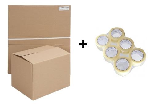 10 Cajas Mudanza + 6 Cintas De Embalaje // Cart Paper