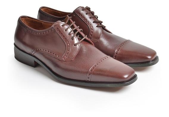 Zapatos Hombre De Cuero Con Alto Brillo Santino - Ferraro -