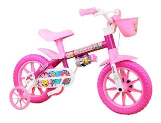 Bicicleta Bike Para Criança 3 A 5 Anos Aro 12 Flower Nathor