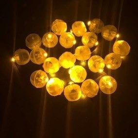 20 Mini Micro Led Bexiga Balão Festa Decoração Frete 10,00