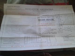 Poster Publicidad Antigua Aereador Argentina Envios