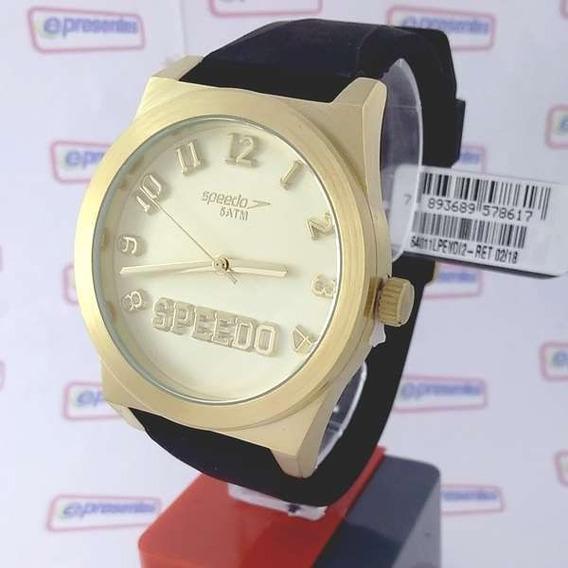 Relógio Feminino Dourado Grande Speedo Wr50 Analogico 43mm