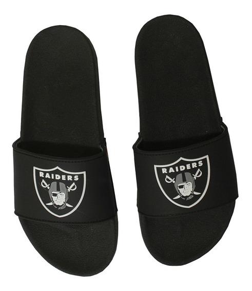 Chinelo Preto Oakland Raiders