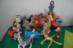 Bonecos Madagascar Alex Marty Glória Melman Capitão
