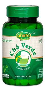 Chá Verde Com Vitamina A / C / E - Unilife 120 Comprimidos