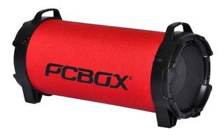 Parlante Pcbox Ice Bluetooth Bateria 1800 Mah Micosd Rojo