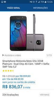 Smartphone Motorola Moto G5s 32gb Platinum