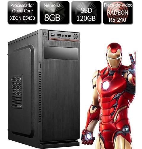 Pc Gamer Xeon E5450 8g Ssd 120gb Radeon R5 240 1gb Gddr3