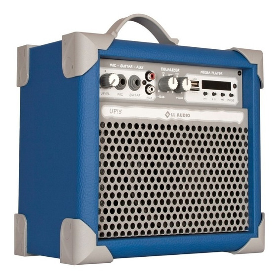 Caixa De Som Amplificada Multiuso Up!5 Azul Fm/usb/bluetooth