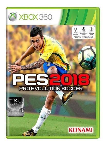 Pro Evolution Soccer 2018 Pes 18 Xbox 360 Mídia Física