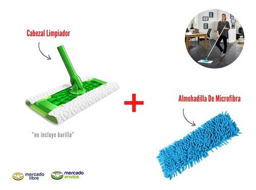 Plumero Limpiador Pisos Birllador Pisos Microfibra + Cabezal