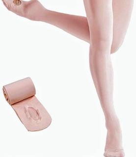 Medias Adulto/juvenil Can Can C/abertura Para Ballet. Licra