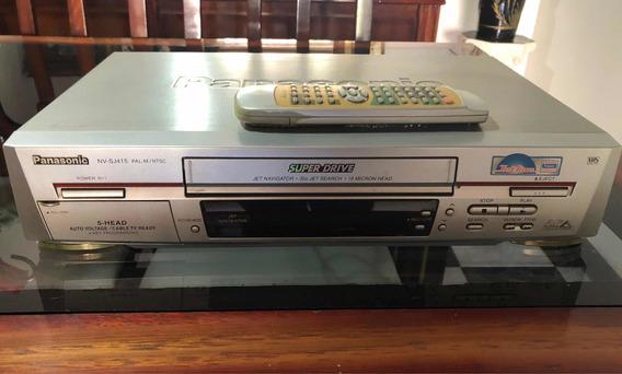 Vídeo Cassete Panasonic Com Controle Remoto