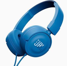 Fone Ouvido Azul Jbl T450 Blue On Ear Headset Original C/mic