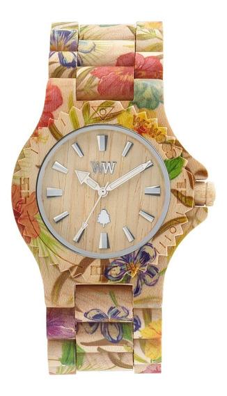 Relógio, Wewood, Date Flower Beige
