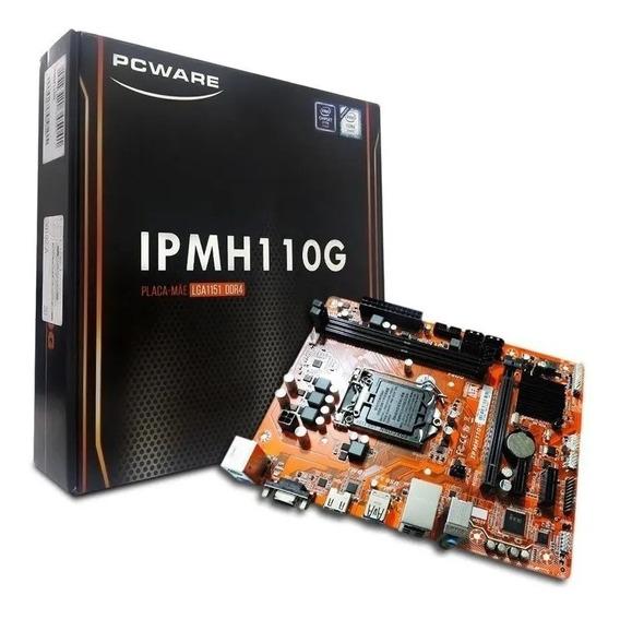 Placa Mãe Pcware Lga 1151 H110 Ddr4 32gb Hdmi