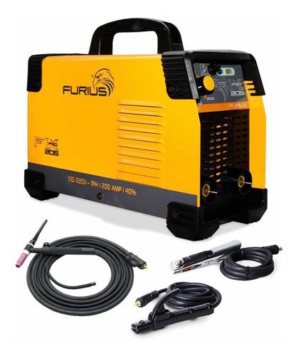 Soldador Inversor Furius Electrodo Tig Fix 205 Pro 200amp