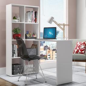 Escrivaninha Mesa Estante 5 Nichos Be 38 - Branco