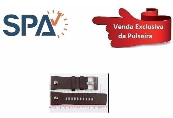 Pulseira Relógio Diesel Dz7314 Couro Marrom 100% Original