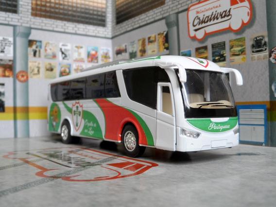 Miniatura Ônibus Da Portuguesa - Em Metal - Time De Futebol