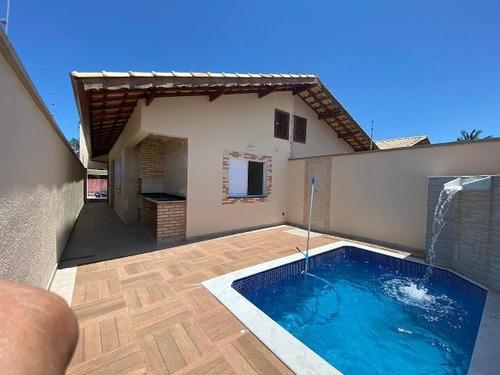 Imagem 1 de 14 de Belíssima Casa No Bairro Grandesp - Itanhaém 7445   Sanm