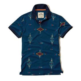 Camisa Polo Hollister Patterned Slim