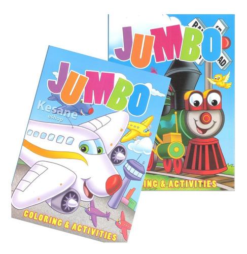 Imagen 1 de 7 de Kit 2 Libros Para Iluminar Doble Jumbo Colorear Infantil