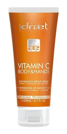 Nueva Vitamina C Crema Hidratante Para Manos Y Cuerpo Idraet